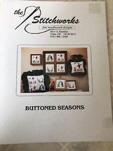 Buttoned-Seasons-Cross-Stitch-pattern-by-The-Stitchworks