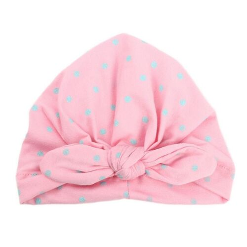 Baby Turban Hats With Bow Candy Color For Kids Girls Elastic Infant Accessories