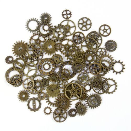 5 X Steampunk Colgante Engranajes Encanto Ruedas Hallazgo Collar Bricolaje BC