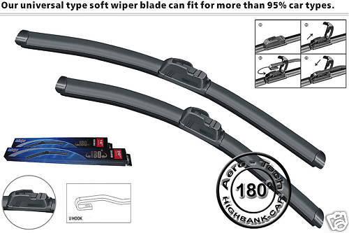 AERO FLAT WINDSCREEN WIPER BLADES Toyota RAV4 00-05