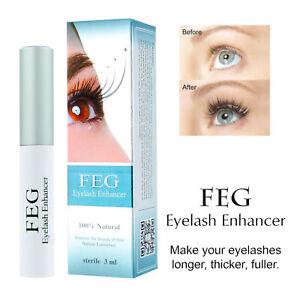 d486ddee795 Image is loading FEG-Eyelash-Enhancer-Rapid-Growth-Serum-100-Natural-