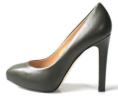 NIB Giuseppe ZANOTTI dark olive leather PLATFORMS heels shoes - FABULOUS