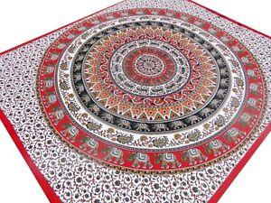 Couvre-lit-Elephant-Indien-Mandala-Jete-de-lit-Canape-Tenture-Hippie-Boho-Inde-E