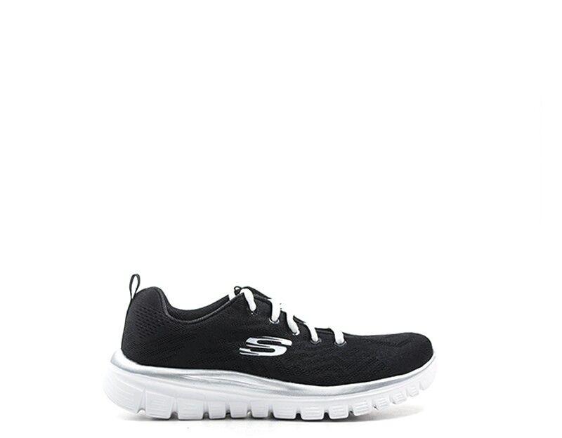 Chaussures SKECHERS Sport Femme noir tissu 12615-bkw