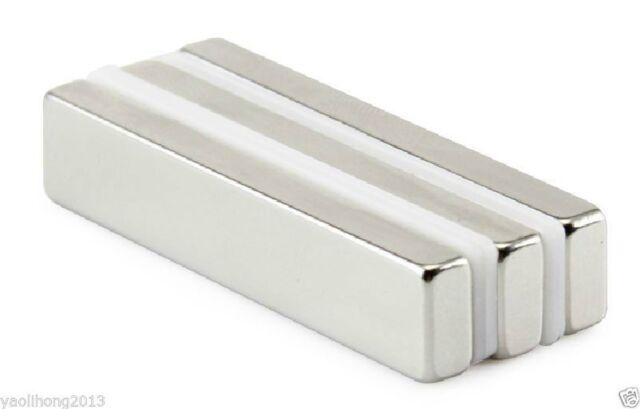 5pcs Super Strong Magnets Block Cuboid 50 x 10 x 3 mm Rare Earth Neodymium N50