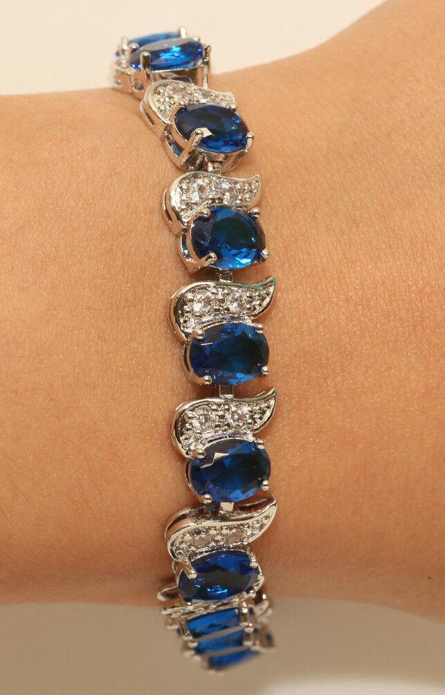 """14K White gold Finish Tennis Bracelet 7.5"""" for Women Engagemnt Gift 2 Carats"""