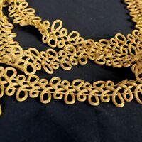 Fm230 12 Flat Gold Trim Fabric
