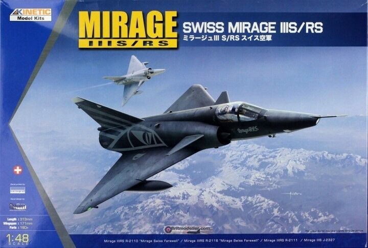 Kinetic 1 48 Dassault Mirage IIIS RS