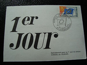 FRANCE-carte-1er-jour-22-3-1969-conseil-de-l-europe-cy56-french