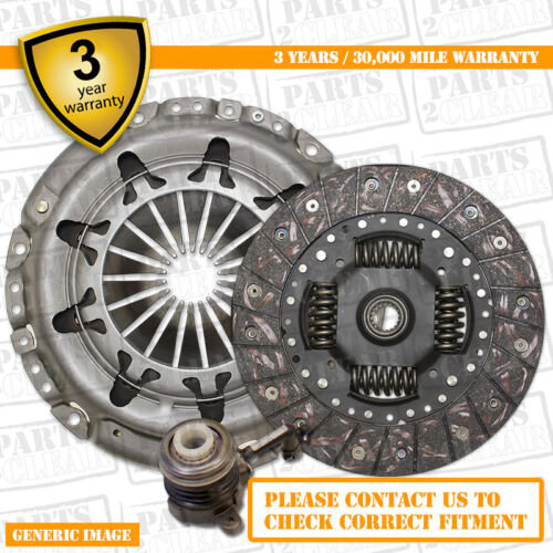 3 Part Clutch Kit with CSC Slave Cylinder 190mm 9789-25 Complete 3 Part Set
