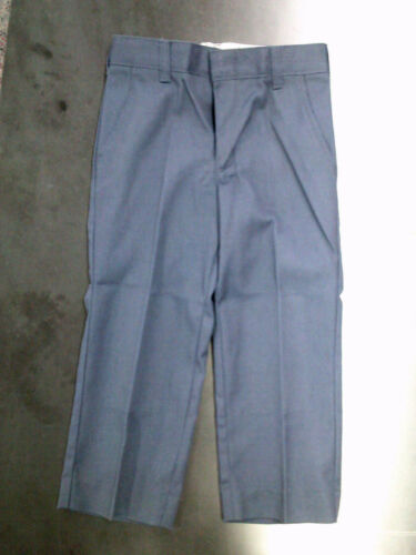 Boys A Fabrics Navy Blue Wrinkle Free Uniform Pants Sizes 5-16