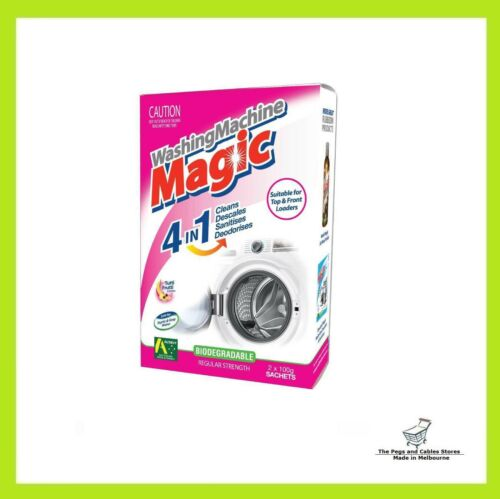 Australian Made 2 Sachets Washing Machine Magic 4 in 1 Cleaner Front Top Load