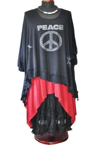 Xxl xxxl Declaración Negro Rhinestone Tailband Camiseta Ola xxxxl Túnica Lagenlook FfPwxC1q0a