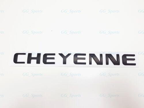 1PC Matte Black CHEYENNE 3D Letters Emblems Badges Nameplate 1500 2500HD 3500HD