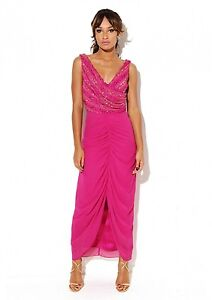 Virgos-Lounge-Pink-Biba-Embellished-Ruched-Wedding-Maxi-Party-Dress-8-36-New