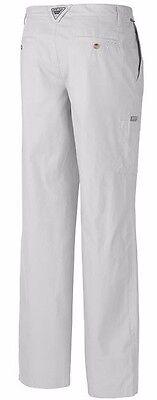Columbia PFG Bonehead 100% Lite Cotton Men's 34/34 Omni-Shade UPF 50 Pants White