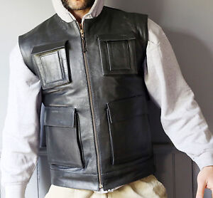 f1677b928 Details about Leather Vest Biker Smuggler Han Solo inspired perfect for  Harley Riders New
