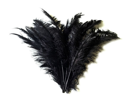 "10 pieces Black Ostrich Spads Extra Long Feathers 20-28/"" Centerpiece Costume"