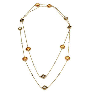 Norman-Covan-Quartz-and-Diamond-Flower-Necklace-in-Gold