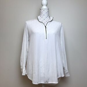 MELA-PURDIE-Size-10-White-Top-Shirt-Long-Sleeve-Casual