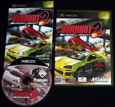 BURNOUT 2 POINT OF IMPACT Xbox Versione Spagnola gioco in Italiano ○○○○ COMPLETO