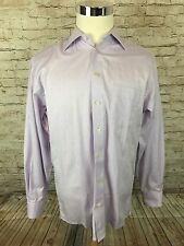 Eton Ganghester 1928 Purple Herringbone Button Front Mens Dress Shirt 16/41 - B1