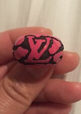 Authentic LOUIS VUITTON PINK LEOPARD RING, Size M