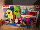 Fisher Price Little People Animal Rescue Fire station fire truck dog cat kitten
