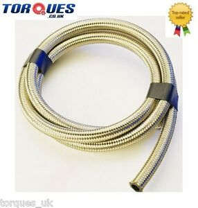 Stainless-Steel-Braided-Rubber-Nitrile-Fuel-Hose-6mm-1-4-034-I-D-1-m
