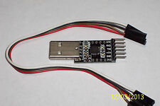 USB 2.0 TO TTL UART,CP2102(chipset) 6 PIN SERIAL CONVERTER MODULE , NEW BLACK