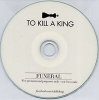 TO KILL A KING Funeral 2013 UK 1-track promo CD