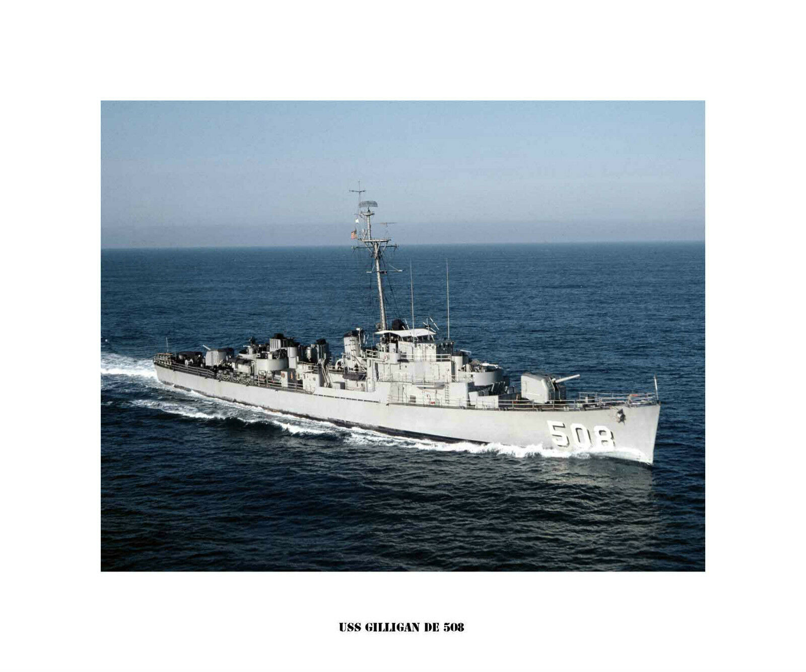 USS GILLIGAN DE 508  Destroyer Escort, US Ship, USN Navy Photo Drucken