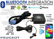 Peugeot 307 Bluetooth music streaming handsfree car kit RD3 AUX USB MP3 iPhone