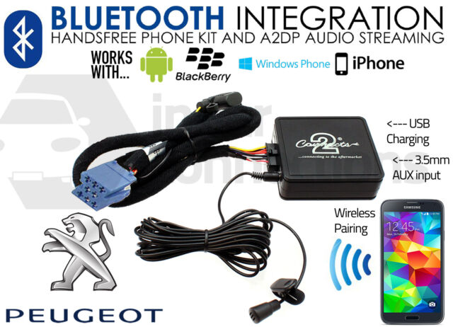Peugeot 607 Streaming Música Bluetooth Manos Libres Adaptador Coche RD3 Aux MP3