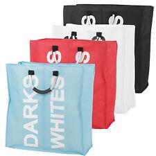 Large 2 Section Laundry Washing Clothes Bag Hamper Sorter Folding Organiser New