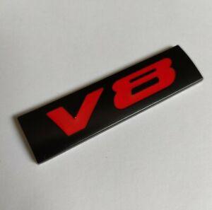 Noir-amp-Rouge-3D-Metal-V8-Badge-Plaque-Embleme-Pour-BMW-1M-M2-M3-M4-M5-M6-Voiture