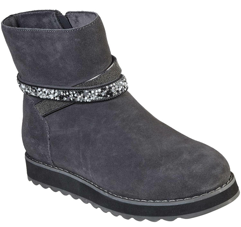 Skechers Keepsakes Damen Stiefel Stiefeletten Stiefel 44621 Ccl Grau grau Neu