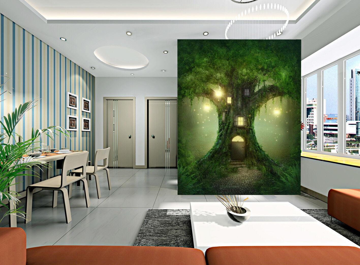 3D Firefly Light Tree 7 Wall Paper Murals Wall Print Wall Wallpaper Mural AU Kya