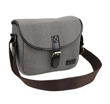 Canvas Leather Shoulder Messenger Bag Case for Canon Nikon Sony DSLR Lens Camera