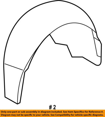 Chevrolet GM OEM 10-13 Camaro Rear-Fender Liner Splash Shield Right 92246238