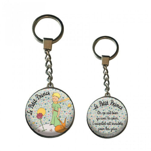 Keychain Glass Little Prince and the Fox-Sandals Sizes 12 cm