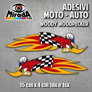ADESIVI-STICKER-WOODY-WOODPECKER-MOTOCROSS-AMA-ONDA-PICCHIARELLO-BIRD-SBK-MOTO