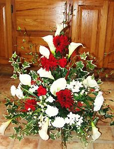 Wedding Church Flower Stephanotis Christmas Red White Bridal Florist