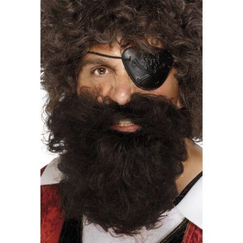 Deluxe Pirata barba in nero o marrone-Smiffy/'s Costume Accessorio
