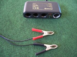 4-OUTPUT-CIGAR-12V-SOCKET-fits-to-battery-via-crocodile-aligator-clips-camping
