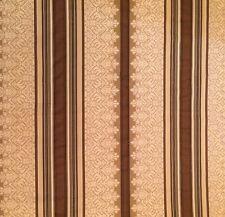 PIERRE FREY Rayure ADANA neige viscose cotton stripe brown cream woven New $40.