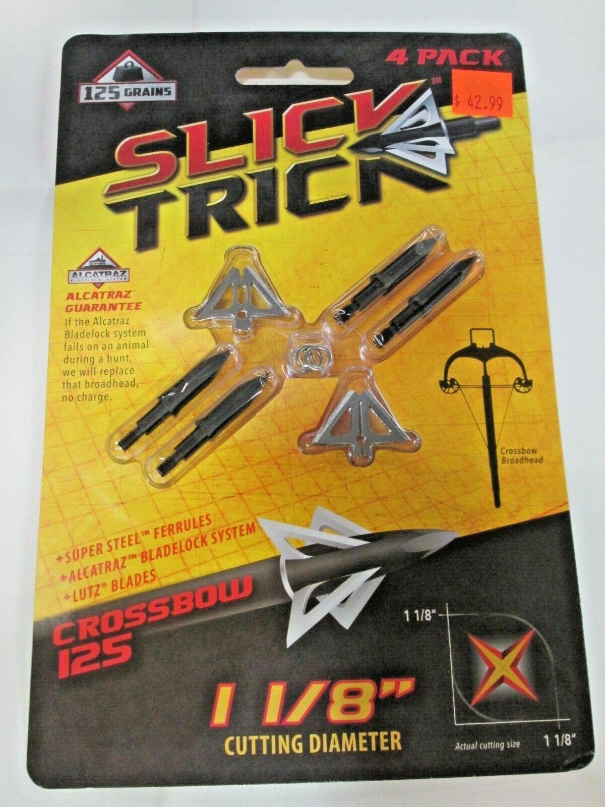 Slick Trick Broadheads Crossbow 4pk 125 Grain 4 Blade Stx125 XBOW #05542 for sale online