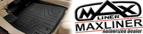 Black Floor Liners Mats  2 Rows Custom Fit 1st 2nd Rows MAXLINER Mats