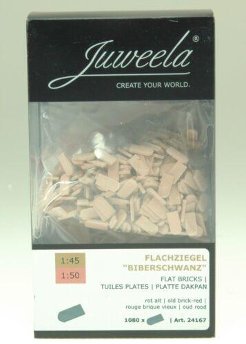 Juweela 24167 1:45 Spur 0 Biberschwanz Rundschnitt rot altrot 1080 Stück