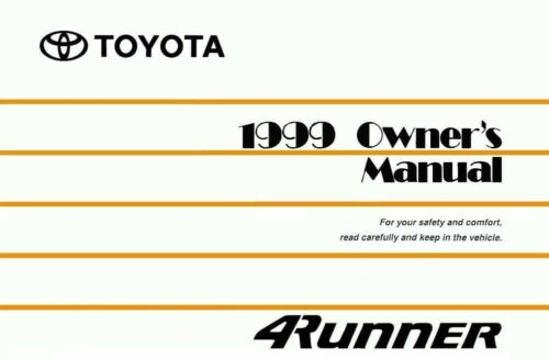 bishko oem repair maintenance owner s manual toyota 4runner 1999 ebay rh ebay com 1999 toyota 4runner owners manual pdf 1999 Toyota 4Runner Sport Hood